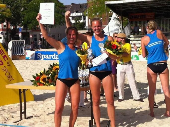 Erfolgreiche Beacherinnen des Teams DSHS SnowTrex Köln
