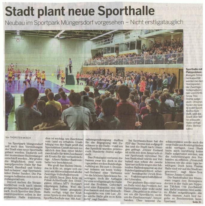 2013-11-08 Kölnische Rundschau Halle