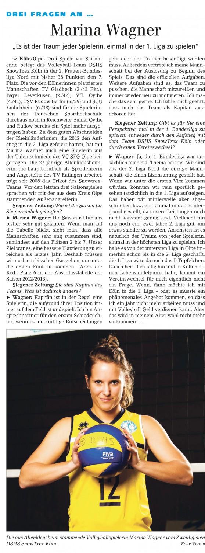 Siegener Zeitung 27.03.2014