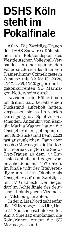 Kölner Rundschau 04.10.2014