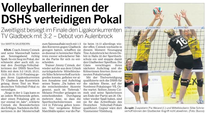 Kölner Rundschau 14.10.2014