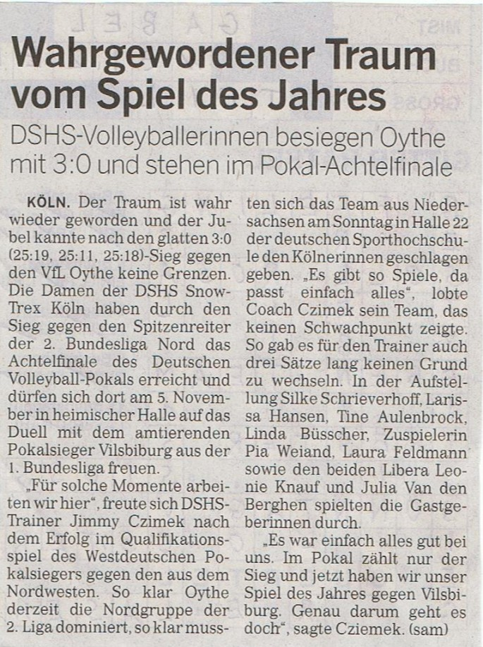 Kölner Rundschau 18.10.2014