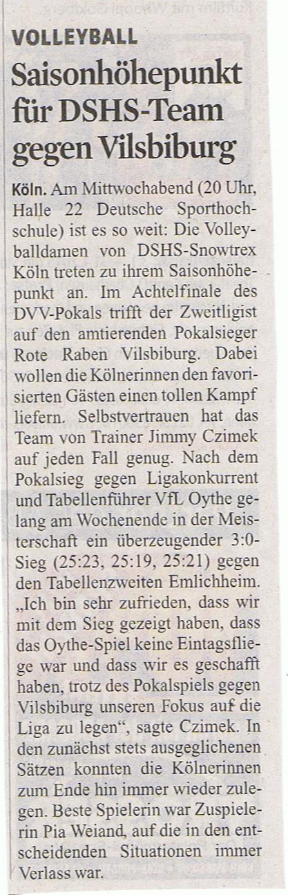 Kölner Stadt-Anzeiger 04.11.2014