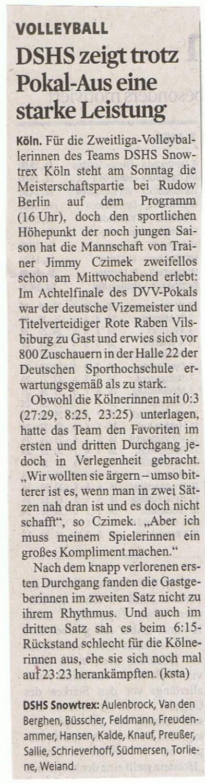 Kölner Stadt-Anzeiger 07.11.2014