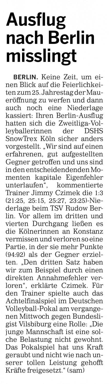 Kölner Rundschau 11.11.2014