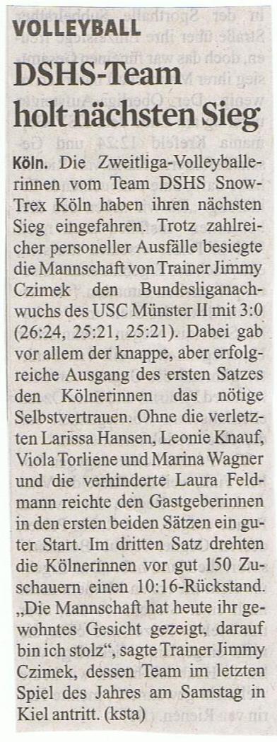 Kölner Stadt-Anzeiger 12.11.2014