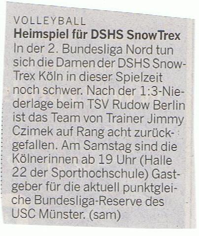 Kölner Rundschau 15.11.2014