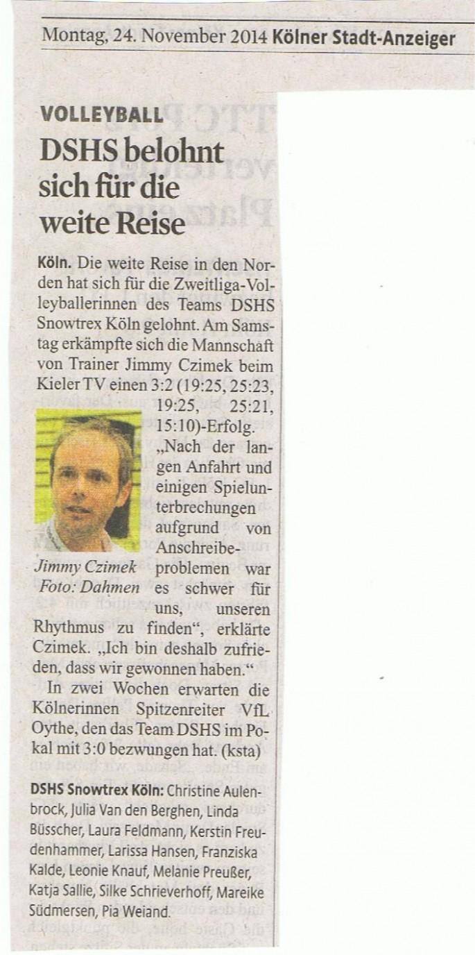 Kölner Stadt-Anzeiger 24.11.2014