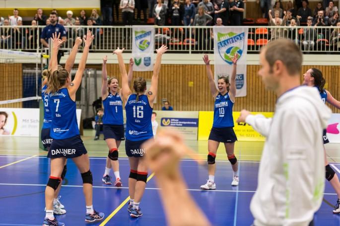 Dritter Doppelspieltag in Folge für die DSHS SnowTrex Köln-Volleyballerinnen (Foto: Martin Miseré)