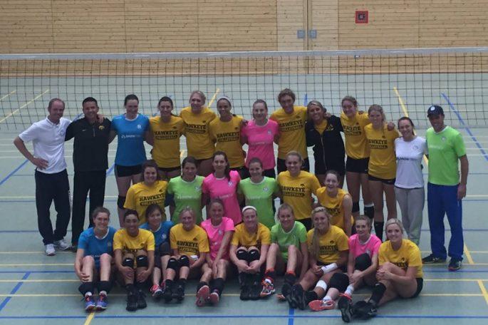 DSHS SnowTrex Köln mit Freundschaftsspiel gegen die University of Iowa (Foto: Britt/Iowa)