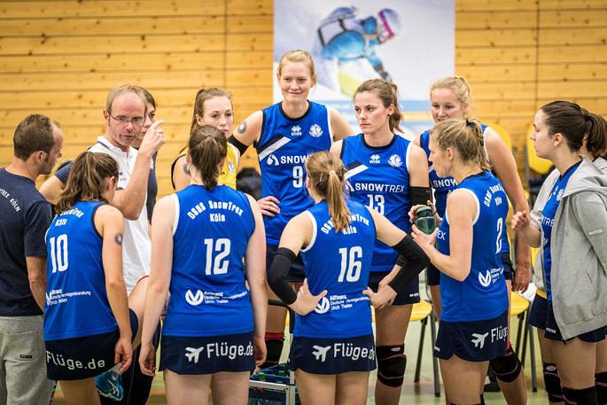 Startete gegen Stralsund perfekt ins neue Jahr: Das Volleyballteam DSHS SnowTrex Köln (Foto: Martin Miseré)