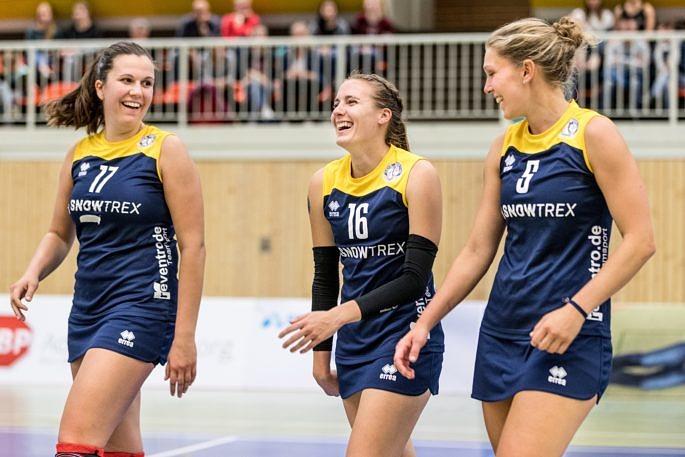 Freut sich auf sein nächstes Heimspiel: Das Volleyballteam DSHS SnowTrex Köln (Foto: Martin Miseré)