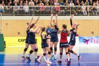 Wollen auch im hohen Norden eine gute Leistung zeigen: Die Zweitliga-Volleyballerinnen vom Team DSHS SnowTrex Köln (Foto: Martin Miseré)